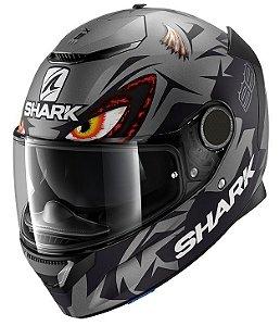 Capacete Shark Spartan Lorenzo Austrian GP - Preto/Cinza Fosco