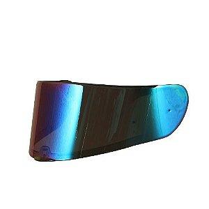Viseira Espelhada Azul Capacete Ls2 Ff397 Vector Orig