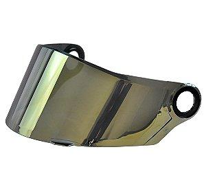 Viseira Espelhada Iridium Dourada Capacete Ls2 Ff358 ff396