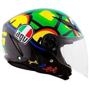 Capacete AGV Blade Turtle - Verde/Amarelo/Preto