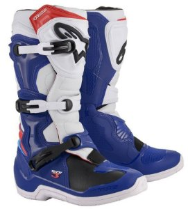 Bota Motocross Alpinestars Tech 3 Tech3 Azul Trilha Cross
