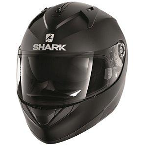 Capacete Shark Ridill Blank Matt Kma Preto Fosco Óculos int