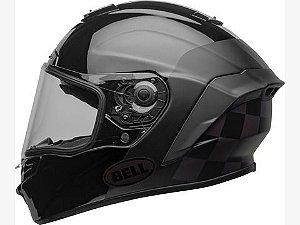 Capacete Bell Star DlX Mips Lux Checkers Preto Fosco