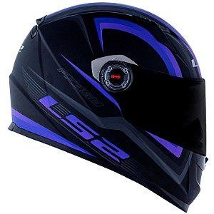 Capacete Ls2 FF358 Sigma Preto Fosco Purpura Fluor