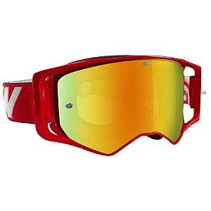 Óculos Asw Sirus Brigade Vermelho Cross Motocross Trilha