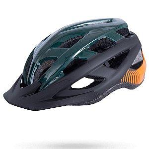 Capacete Asw Bike Fun Verde Preto Bicicleta Montain Bike