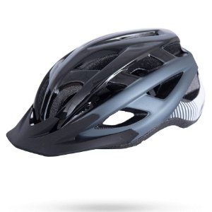 Capacete Asw Bike Fun Cinza Preto Bicicleta Montain Bike