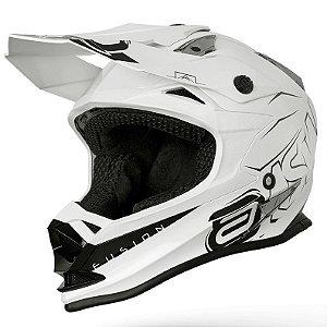 Capacete ASW Fusion Sharp Branco Cross Motocross Trilha
