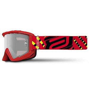 Óculos Asw A2 Vertigo Vermelho Cross Motocross Trilha