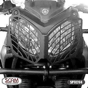 Protetor Farol Aço Carbono Tenere250 2011+ Spto284 Scam