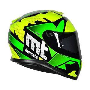 Capacete Mt Thunder 3 Torn Amarelo/verde (verde limao)