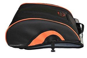 Mochila Aerodinamic Moto Motociclista Porta Capacete Laranja
