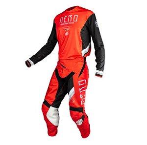 Conjunto Motocross ASW Podium Race Empire Vermelho Preto
