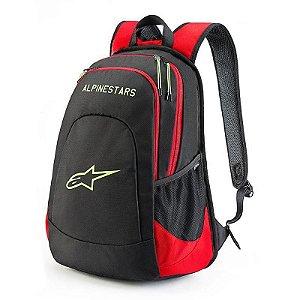 Mochila Alpinestars Defcon Backpack Preta Vermelha Amarela