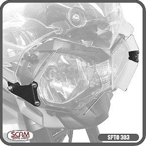 Protetor Farol Policarbonato Tiger800 2012+ Spto303 Scam
