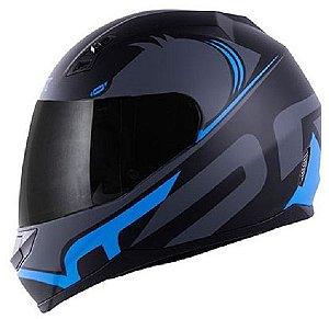 Capacete Norisk ff391 Squalo Fosco Preto Azul