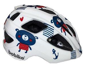 Capacete Bike Infantil Bobike Kids Teddy Ursinho Branco