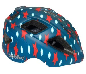 Capacete Bike Infantil Bobike Kids Navy Azul Estrela