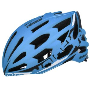 Capacete Bike Polisport Veloster Azul Preto Bicicleta