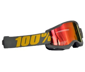 Óculos 100% Strata 2.0 Izipizi Cinza Espelhado Motocross