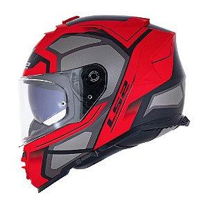 Capacete Ls2 ff800 Storm Faster Vermelho Cinza Fosco