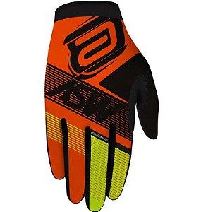 Luva Asw Race Edge Laranja Amerelo Fluorescente Motocross