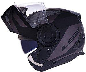 Capacete Ls2 Scope Ff902 Mask Preto Cinza Escamoteável