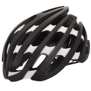 Capacete Ciclismo Polisport Light Road Preto Branco Bike