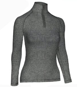 Blusa Segunda Pele Feminina Ultra Go Ahead Inverno Cinza
