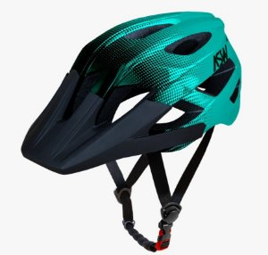 Capacete Asw Bike Accel Dots Verde Bicicleta Montain Bike
