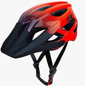 Capacete Asw Bike Accel Dots Laranja Bicicleta Montain Bike