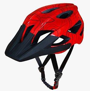 Capacete Asw Bike Accel Frontier Vermelho Bicicleta Montain