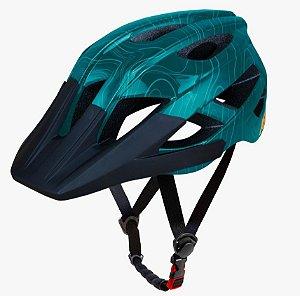 Capacete Asw Bike Accel Frontier Verde Bicicleta Montain Bik
