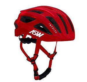 Capacete Asw Bike Impulse Vermelho Bicicleta Montain Bike