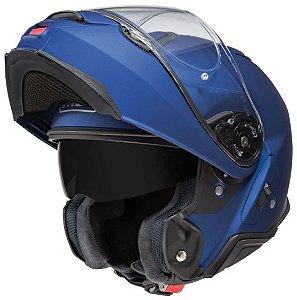 Capacete Shoei Escamoteavel Robocop Neotec II Azul Fosco