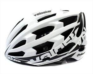 Capacete Bike Polisport Veloster Branco Preto Bicicleta