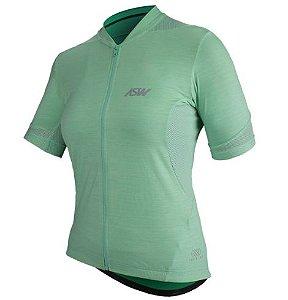 Camisa Ciclismo Bike Asw Essentials Verde Agua Feminina