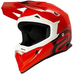 Capacete Motocross Cross ASW Core Legacy Vermelho Preto