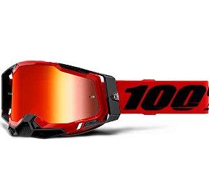 Óculos cross Motocross 100% Racecraft 2 Red Vermelho