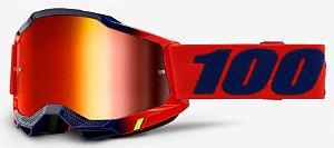 Óculos Cross Motocross 100% Accuri 2 Kearny Vermelho Azul