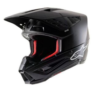 Capacete Motocross Cross Alpinestars Sm5 Solid Preto Fosco
