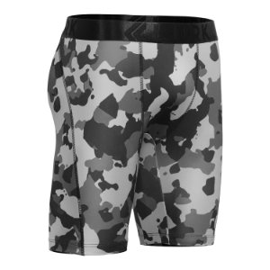 Bermuda Cueca Long Leg Esportiva Termica Lurk Camuflado Cinz