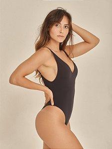 Body Feminino Cavado Preto