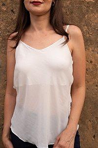 Blusa Feminina de Alça Lisa Off-White