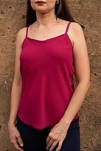 Blusa Feminina de Alça Lisa Rosa Pink