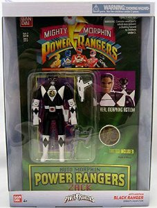 Power Rangers Legacy black Ranger Head Morph Figure