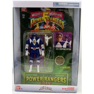 Mighty Morphin Power Rangers Legacy blue Ranger Head Morph Figure