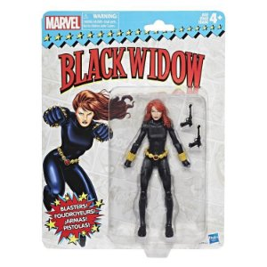 Marvel Legends Retro Collection Black Widow, entrega em 30 dias