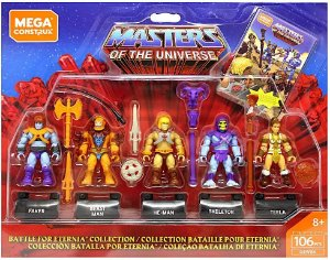 Mega Construx Masters of the Universe Battle for Eternia Collection He-man miniatura PRONTA ENTREGA