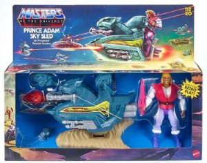 Masters of the Universe: Origins Prince Adam and Sky Sled Pronta entrega